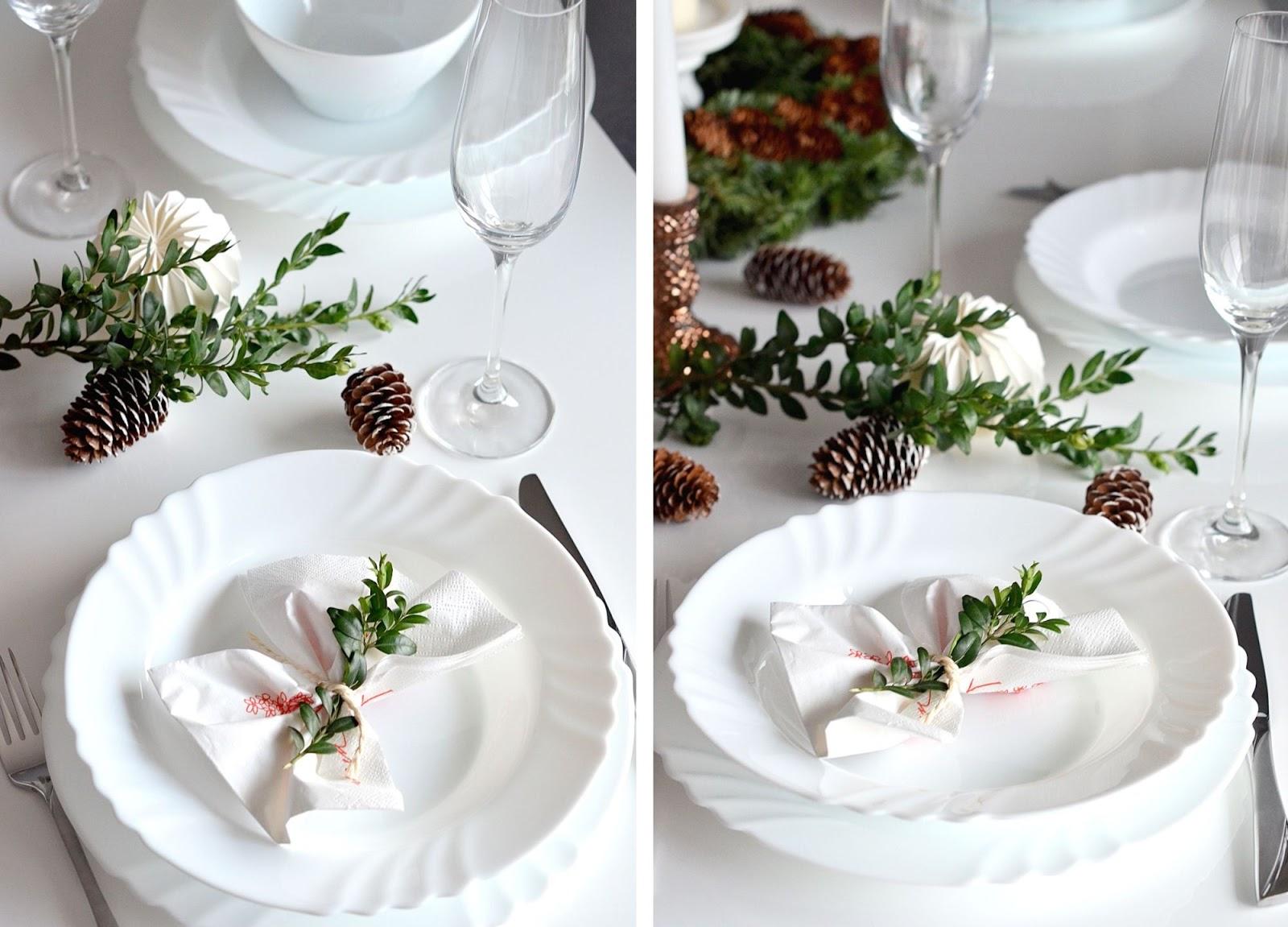dekoracje stolu wigilijnego | swieta