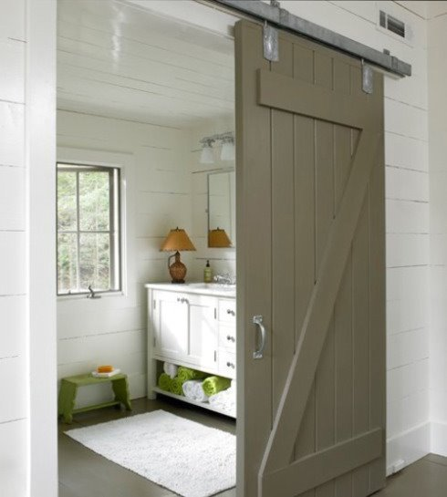 Sliding barn door for bathroom content in a cottage planetlyrics Choice Image
