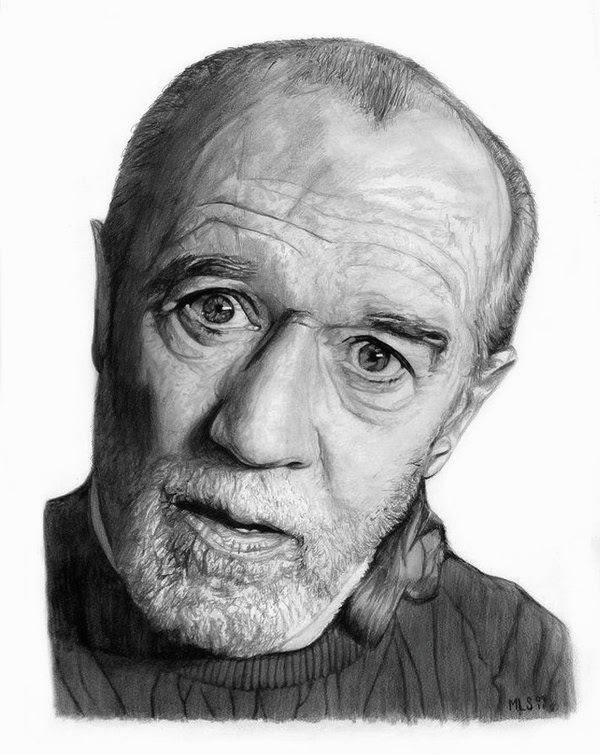 19-George-Carlin-Martin-Lynch-Smith-MLS-art-Celebrity-Drawings-www-designstack-co