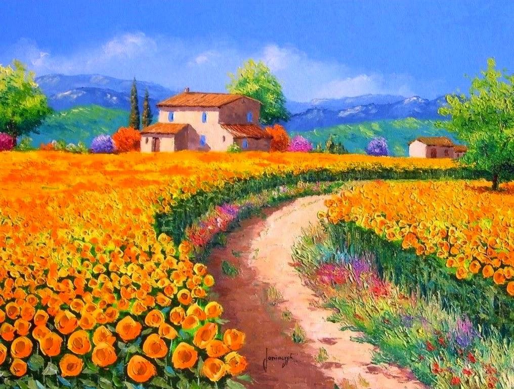 cuadros-en-oleo-paisajes-con-flores