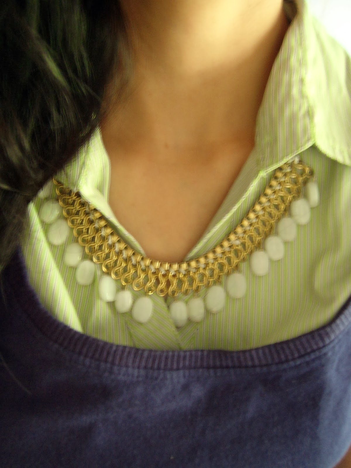 street shopping in mumbai, statement necklace, white necklace, what to buy in mumbai, thrifty thursday