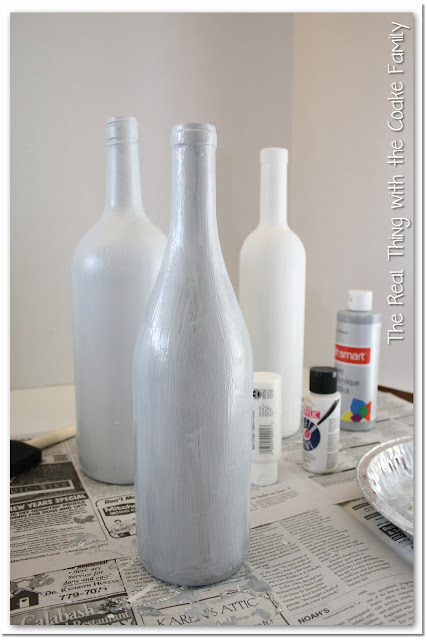 Beautiful and inexpensive wine bottle craft made with Epsom salt ~ #craft #wine