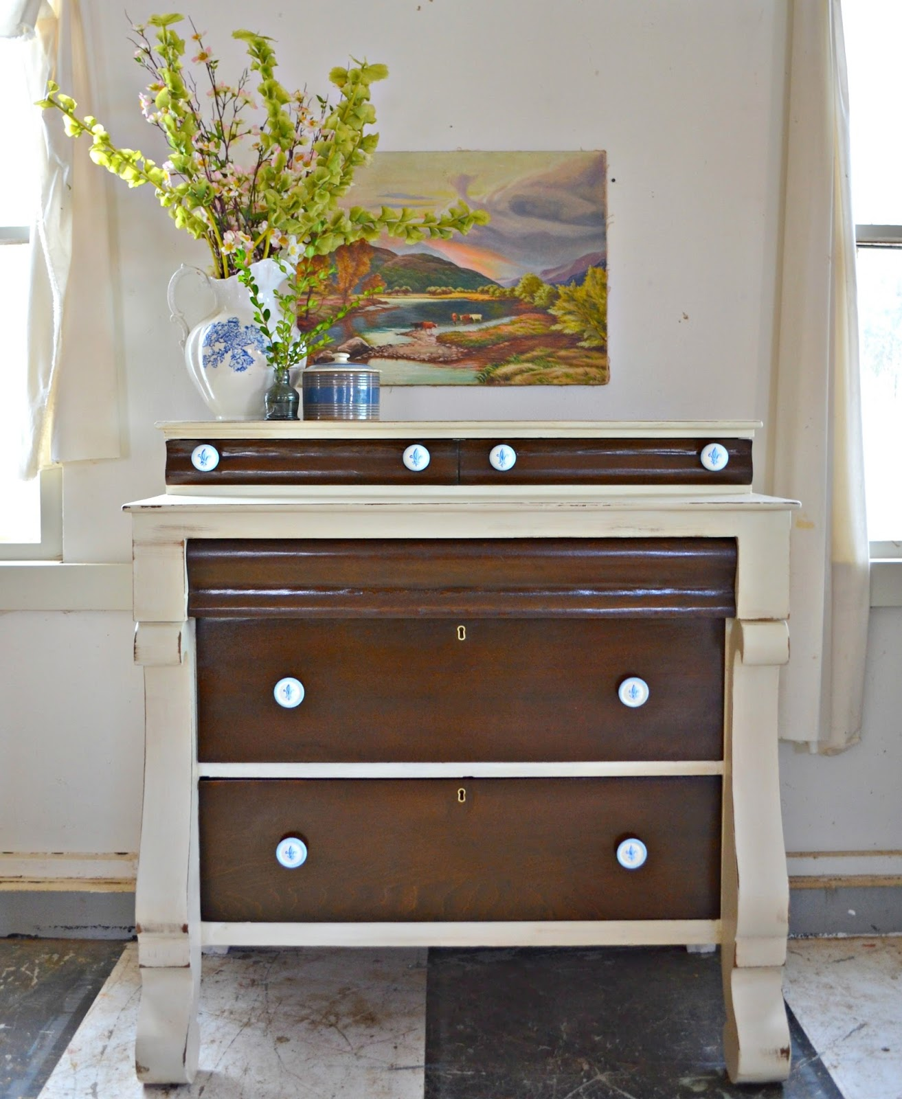 turned but fleur de it are little motifs love original dresser and the pulls drawer desk out i with heir them painted space lis how