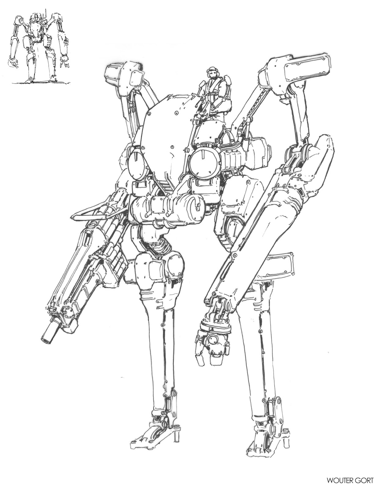 how to draw robot legs