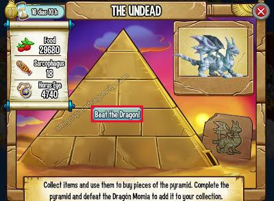 imagen de luchar contra el dragon momia en la isla egipcia de dragon city