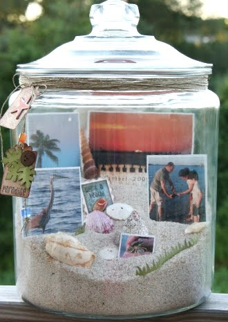 beach vacation photo jar
