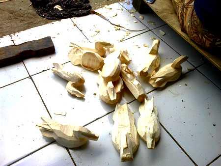 Balinese wooden dolls
