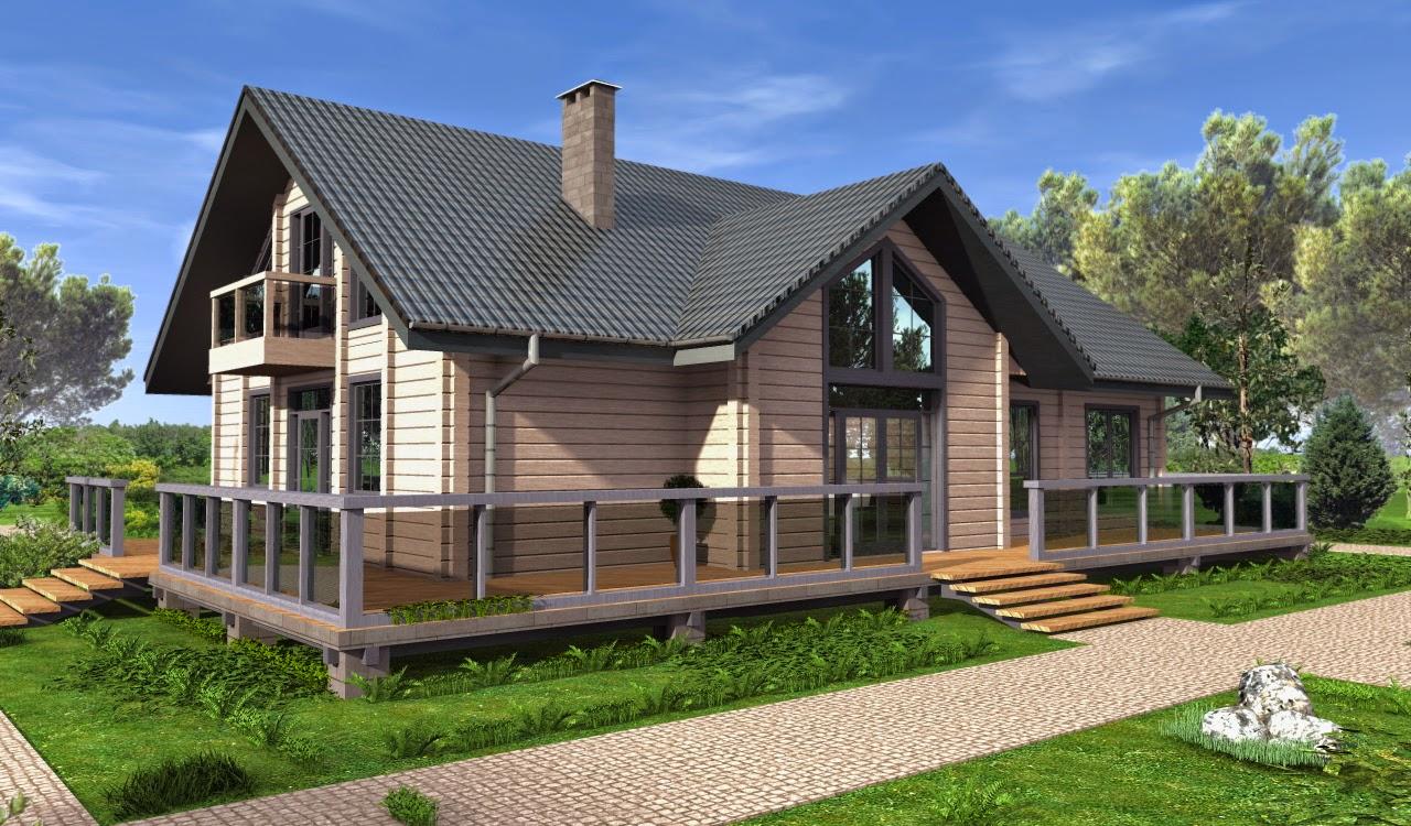 123 дом с мансардой в стиле шале 212 4 м2