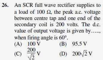 2012 June UGC NET in Electronic Science, Paper III, Question 26