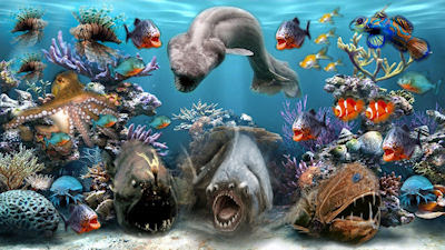 Criaturas del Mar - Sea creatures - Monstruos marinos
