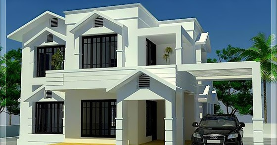 1944 Sq.ft. Sloping Roof Home With 4 Bedroom