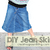 How to Make a Skirt from an Old Pair of Jeans