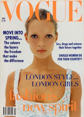 kate moss on 1992 british vogue cover