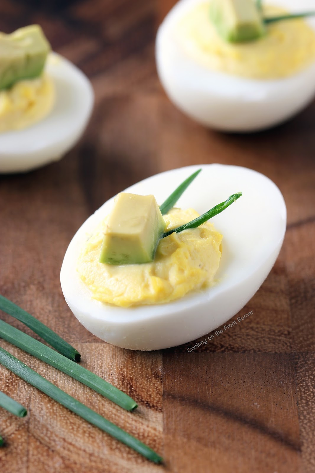Deviled Eggs with Avocado | Cooking on the Front Burner #appetizer