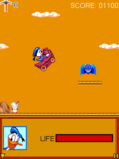 Screenshots of the Donald Duck: Truck Tour for java mobile, phone.