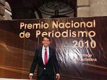 ANTONIO MORQUECHO,EN EL PREMIO NACIONAL DE PERIDISMO
