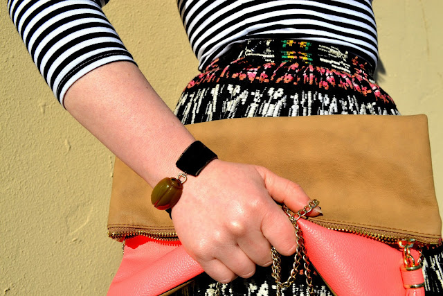 Pattern Mixing, seattle, street style, fleur d'elise, neon, clutch, tribal