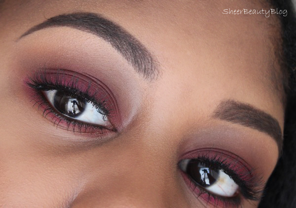 cranberry smokey eyes