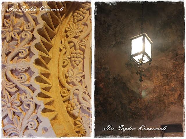 Mor Gabriel Manastırı, taş süslemeleri ve ışıklandırma