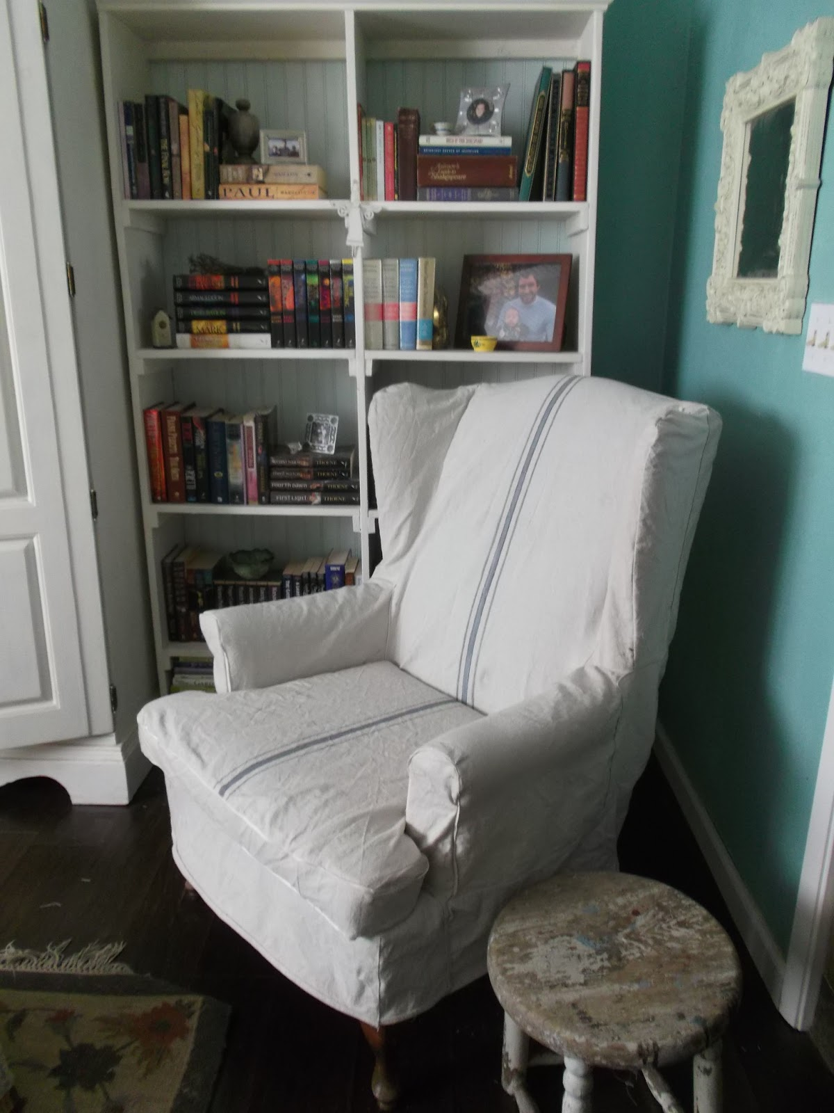 print wingback chair slipcovers decor toile print oversized chair