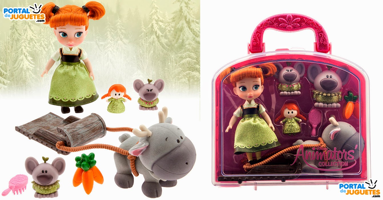 minimuneca anna frozen coleccion disney animators