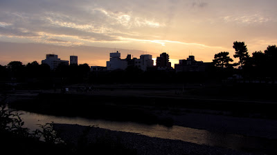 Sunset on Kamogawa