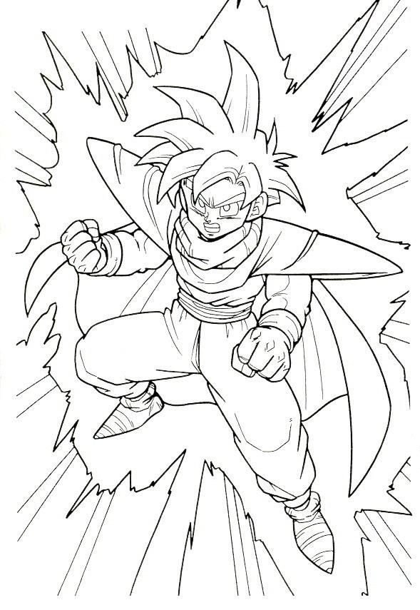 Blog MegaDiverso Dibujos de Dragon ball z para pintar