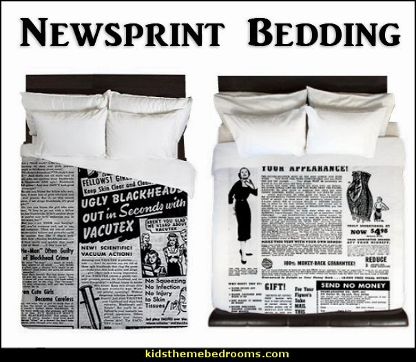 Decorating Theme Bedrooms Maries Manor Newsprint