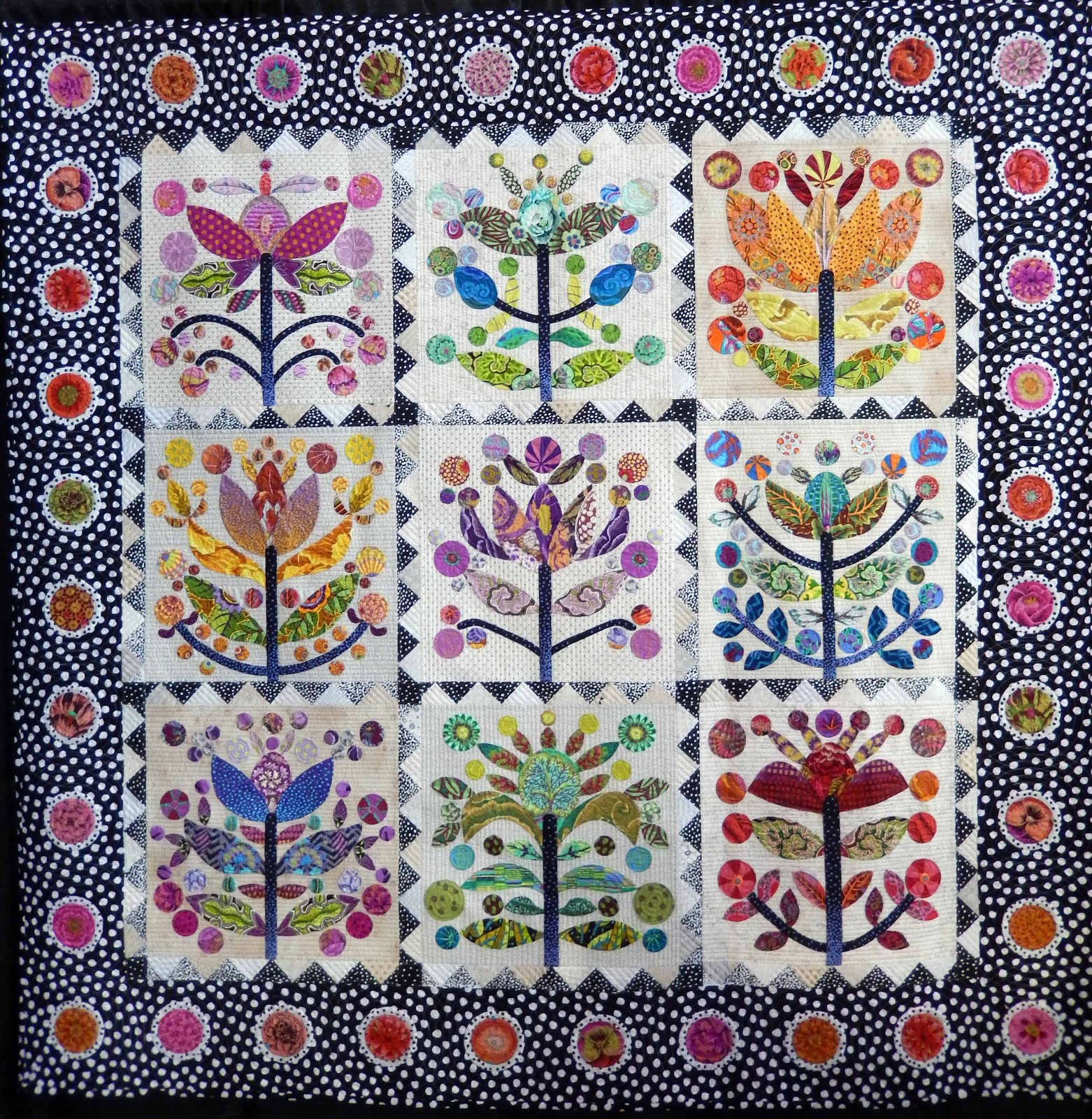 Cat Patches: Stitches in Bloom Quilt Show: Part One