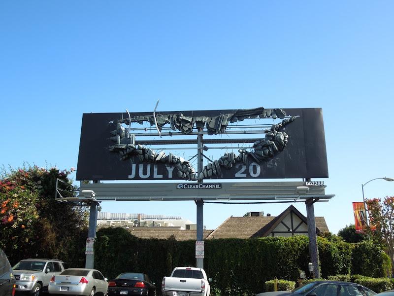 Dark Knight Rises Bat-sign special installation