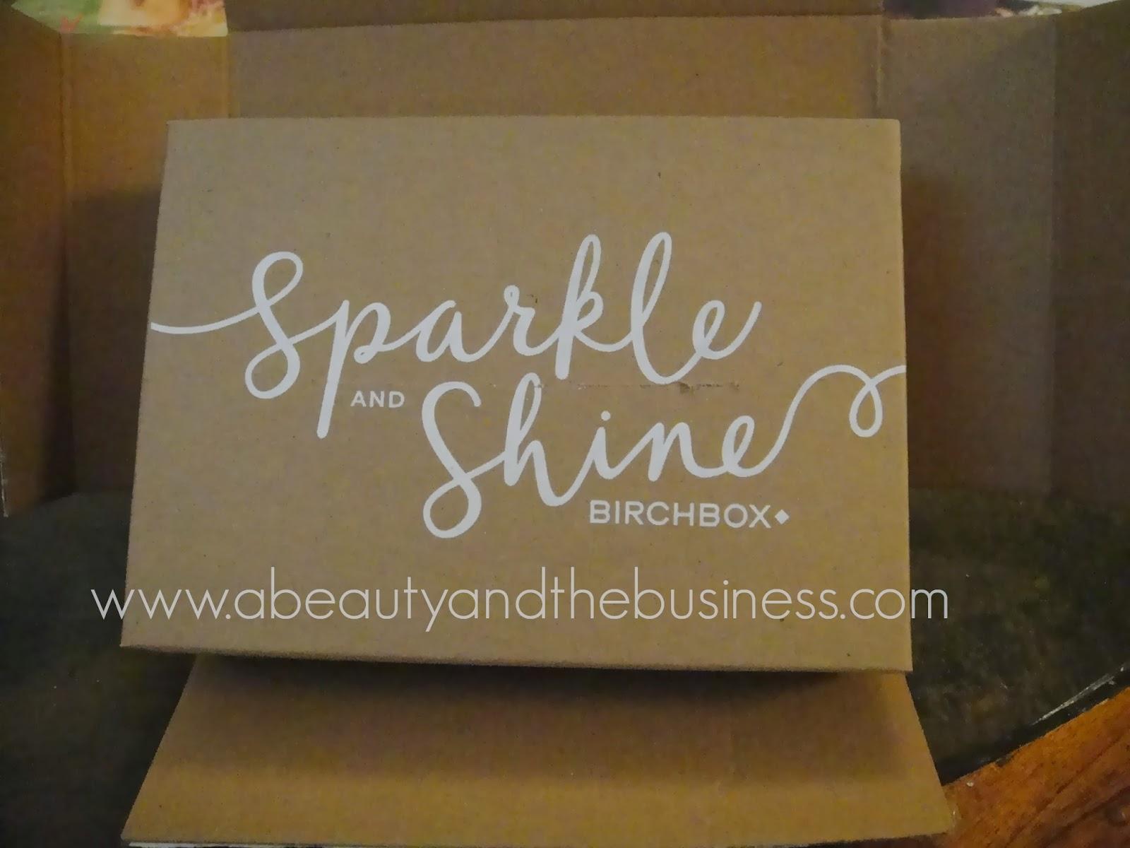 birchbox, sparkle and shine, birchbox december, birchbox december 2013, birchbox 2013, monthly subscription,