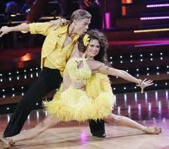 two dancers on Dancing With the Stars