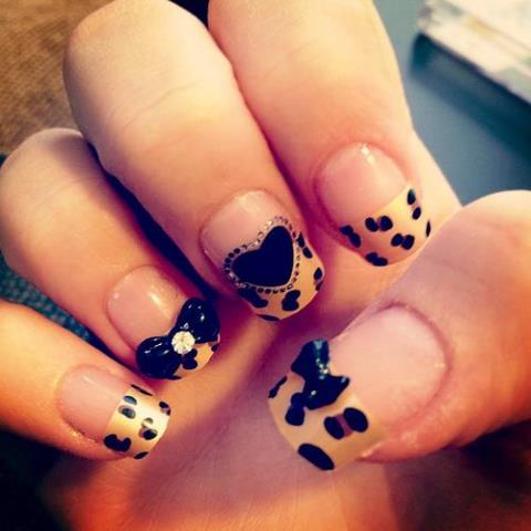 Take a walk on the wild side with animal print nail art designs