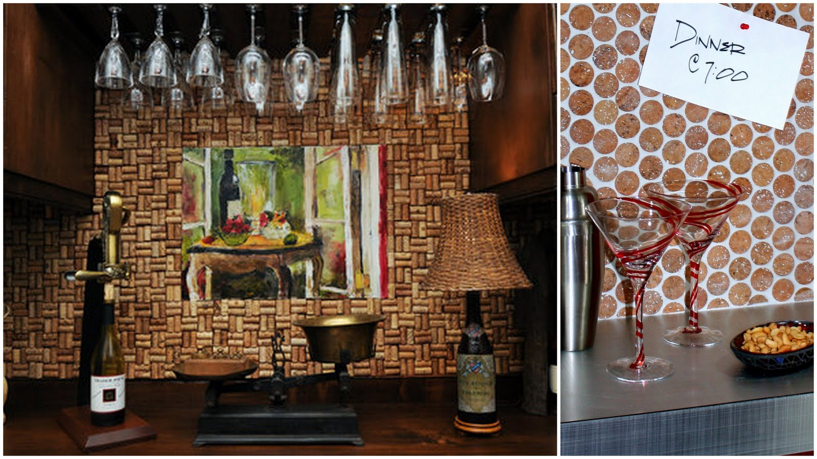 Backsplash with Wine Corks
