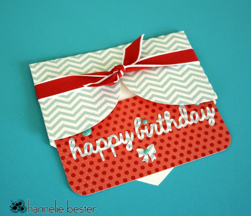pocket /envelope birthday card