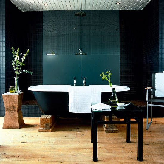 Tinas De Baño Negras:Nature Inspired Bathroom Floor