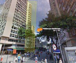 Prédios que caíram no Rio de Janeiro