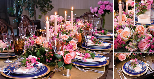 Mesa decorada para o Dia das Mães