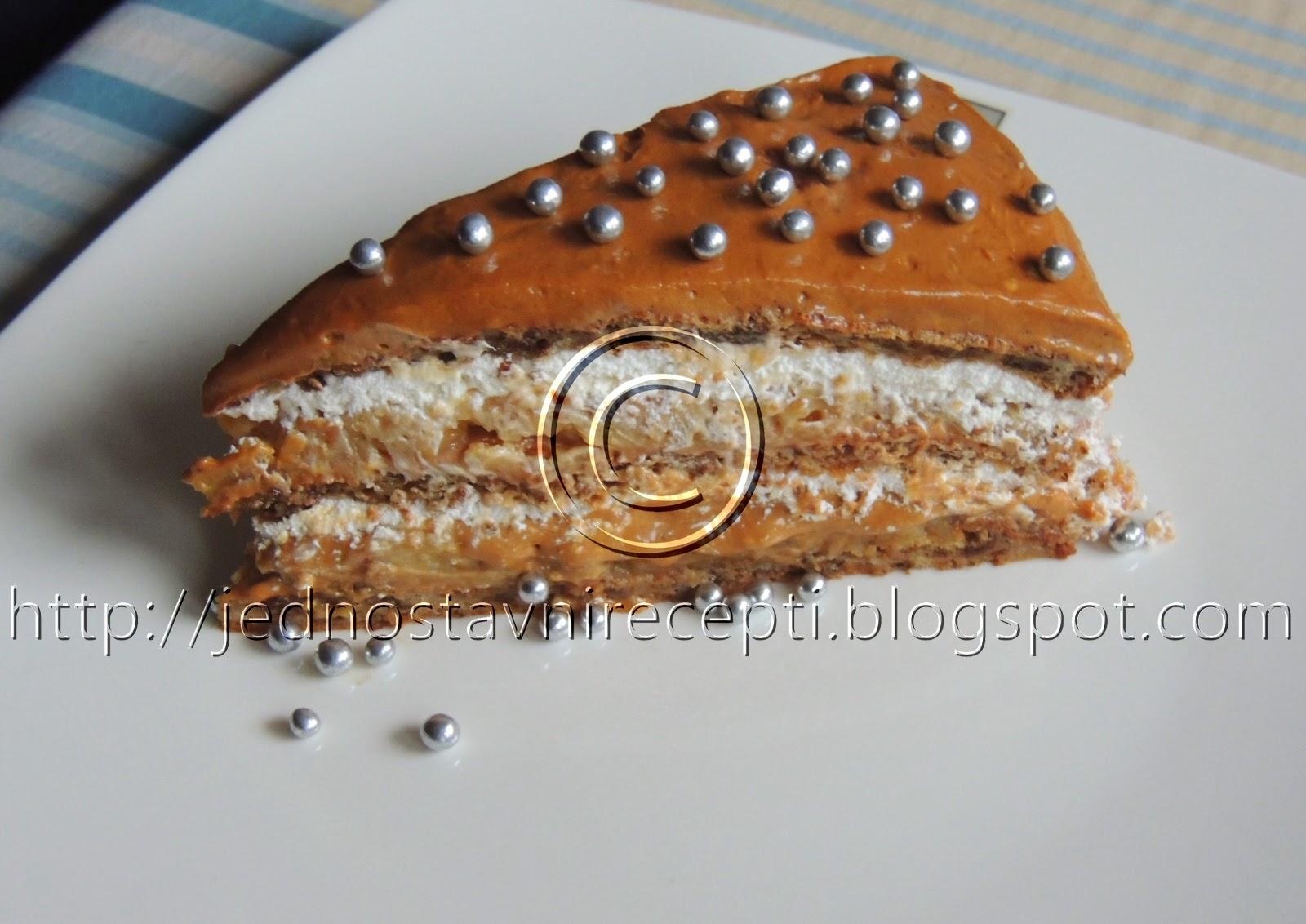 Torta sa kikirikijem, cokoladom i orasima