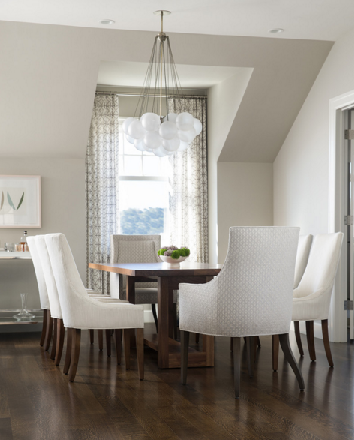 Greensboro interior design window treatments greensboro for Painting rooms with angled ceilings