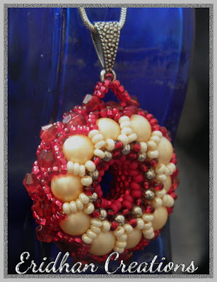 beaded donut pendant
