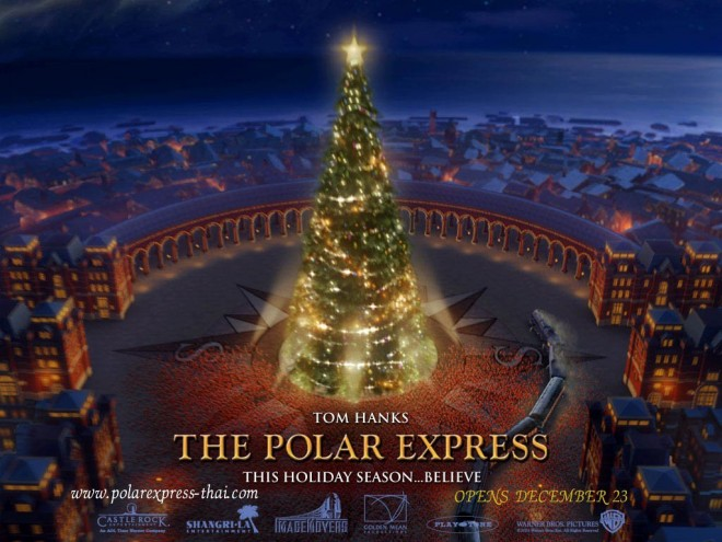 Christmas tree Polar Express 2004 animatedfilmreviews.blogspot.com