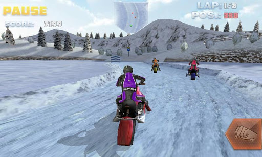 snow bike racing game