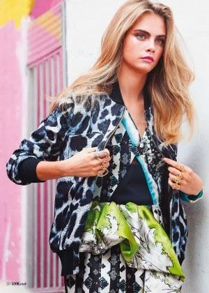 Magazine Photoshoot : Cara Delevingne Photoshoot For Look Magazine January 2014 Issue