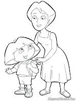 Mewarnai Gambar Dora Bersama Ibu