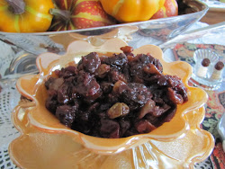 Cranberry, Cherry and Walnut Chutney ~ Page 240 of our Cook Book