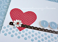 Cardmaking Idea Using Rubber Stamps, Paper Daisies, & Patterned Paper