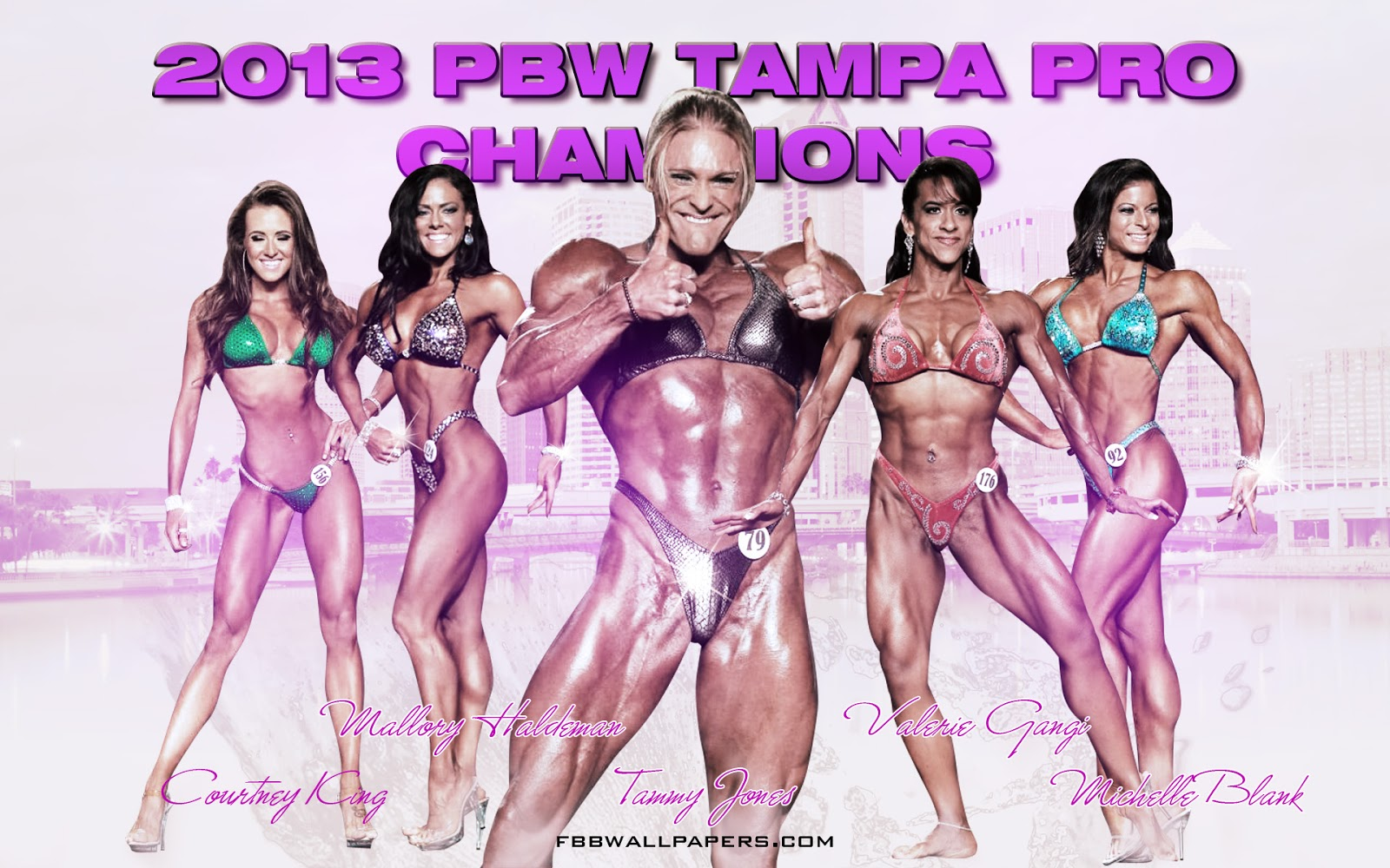 2013 PBW Tampa Pro Women Champions 1920 by 1200 Wallpaper