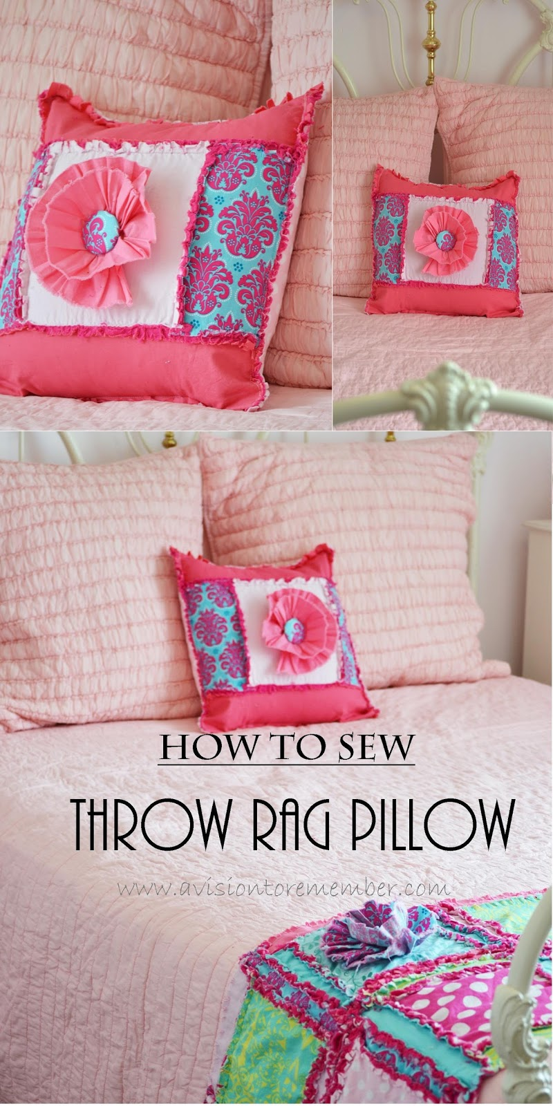 How to sew a rag quilt throw pillow a vision to remember all how to sew a rag quilt throw pillow sham jeuxipadfo Image collections