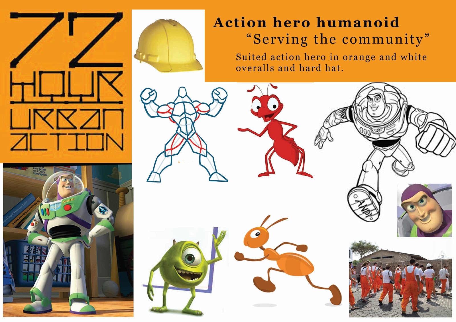 Character Design Mood Board : Hr urban action character design mood board
